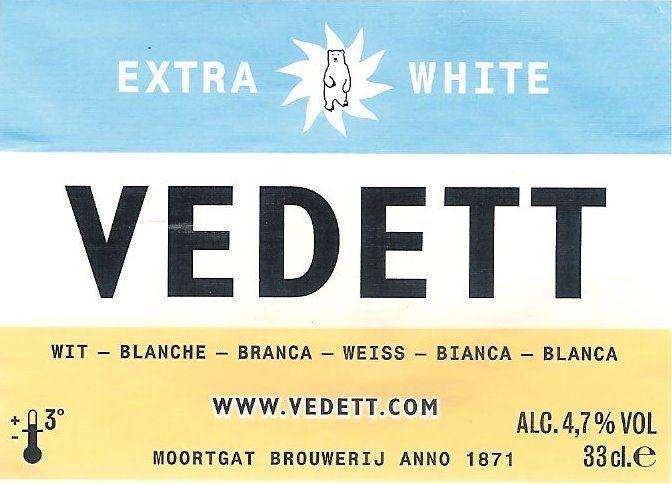 Bier Vedett extra white orgineel